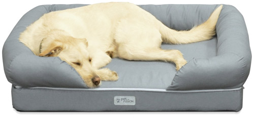The PetFusion Ultimate Pet Bed is made with supportive memory foam