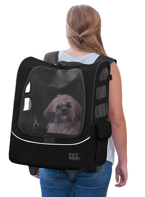 The Pet Gear is a comfy backpack with wheels
