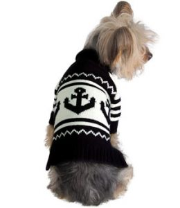 The Stinky G Anchor has a unique design for a dog sweater