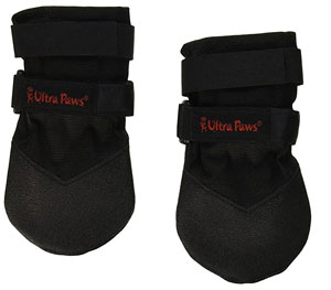 The Ultra Paws provides traction and has Velcro straps