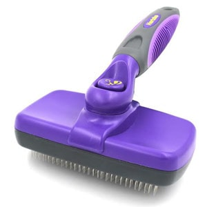 The Hertzko self cleaning slicker brush is also useful to deshed your pet