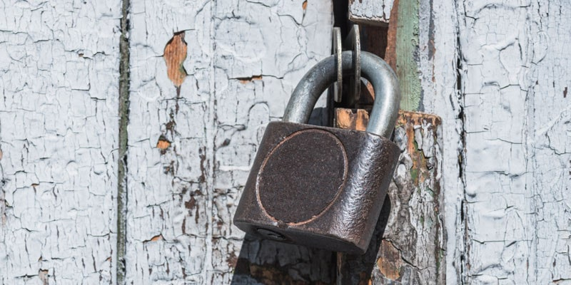 Make sure you get a thick padlock for your gates