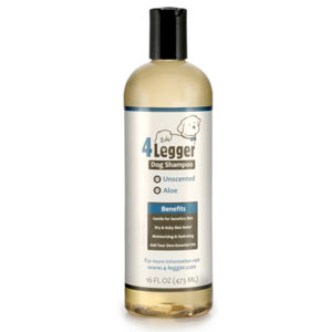 The 4 legger is our pick for the best dog shampoo for those with allergies