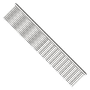 A steel comb for dogs