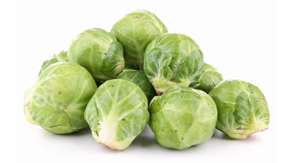 A bunch of brussels sprouts