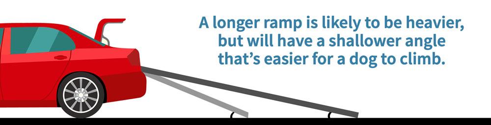 Angles of dog ramp guide